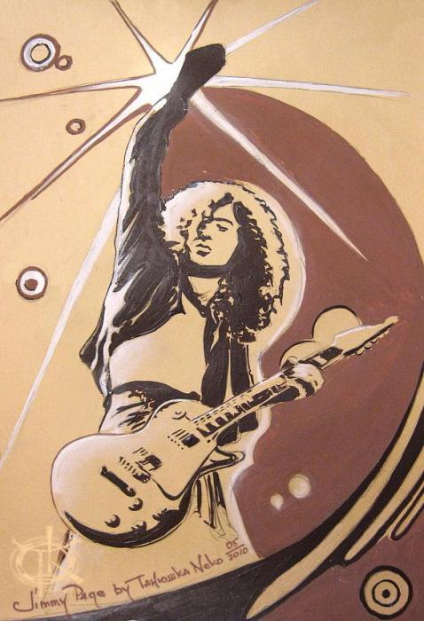Jimmy Page by TankaNeko